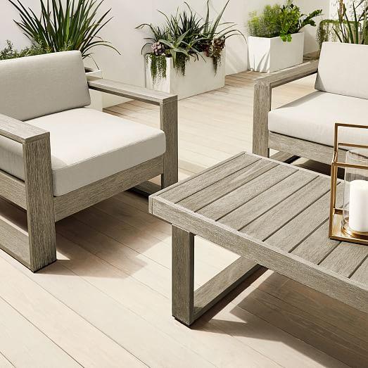 portside outdoor sofa lounge chair coffee table set