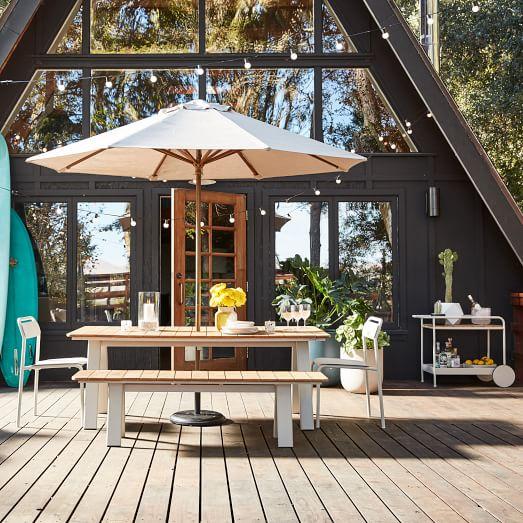 halden outdoor dining table haze