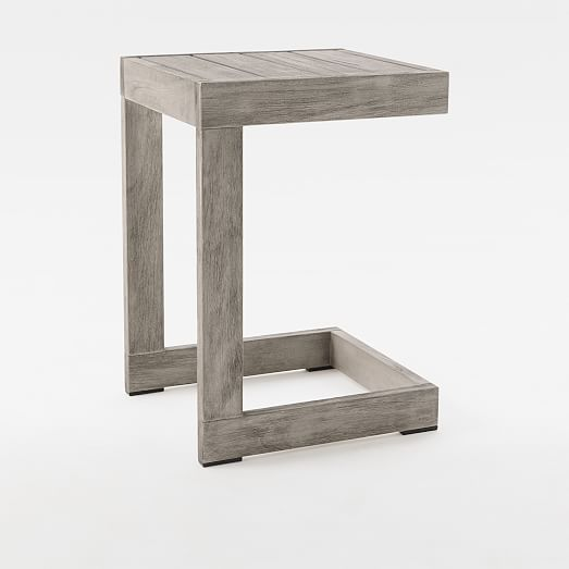 portside outdoor c shaped side table
