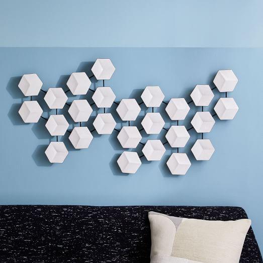 geometric ceramic tile art