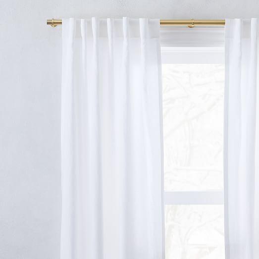 european flax linen curtain white