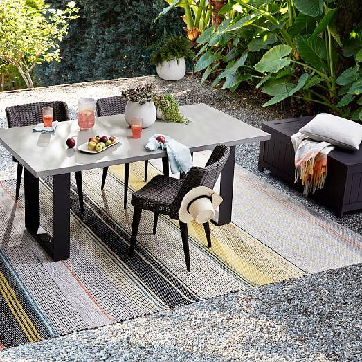 concrete outdoor dining table aluminum
