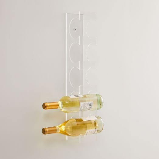 acrylic wall mount wine rack
