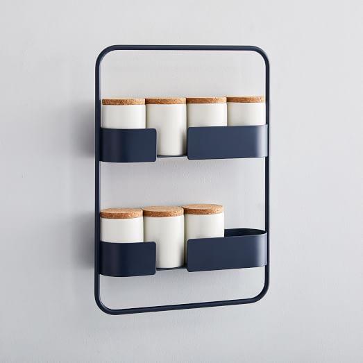 design bite powder coated spice rack
