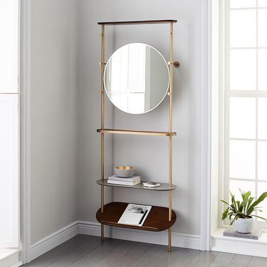 modern entryway mirror coat rack