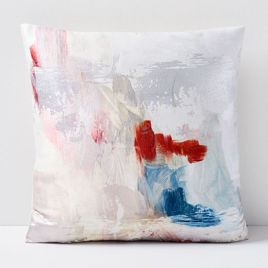 abstract blossom brocade pillow cover