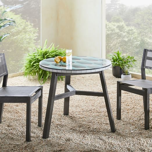 mosaic tiled outdoor bistro table 3d