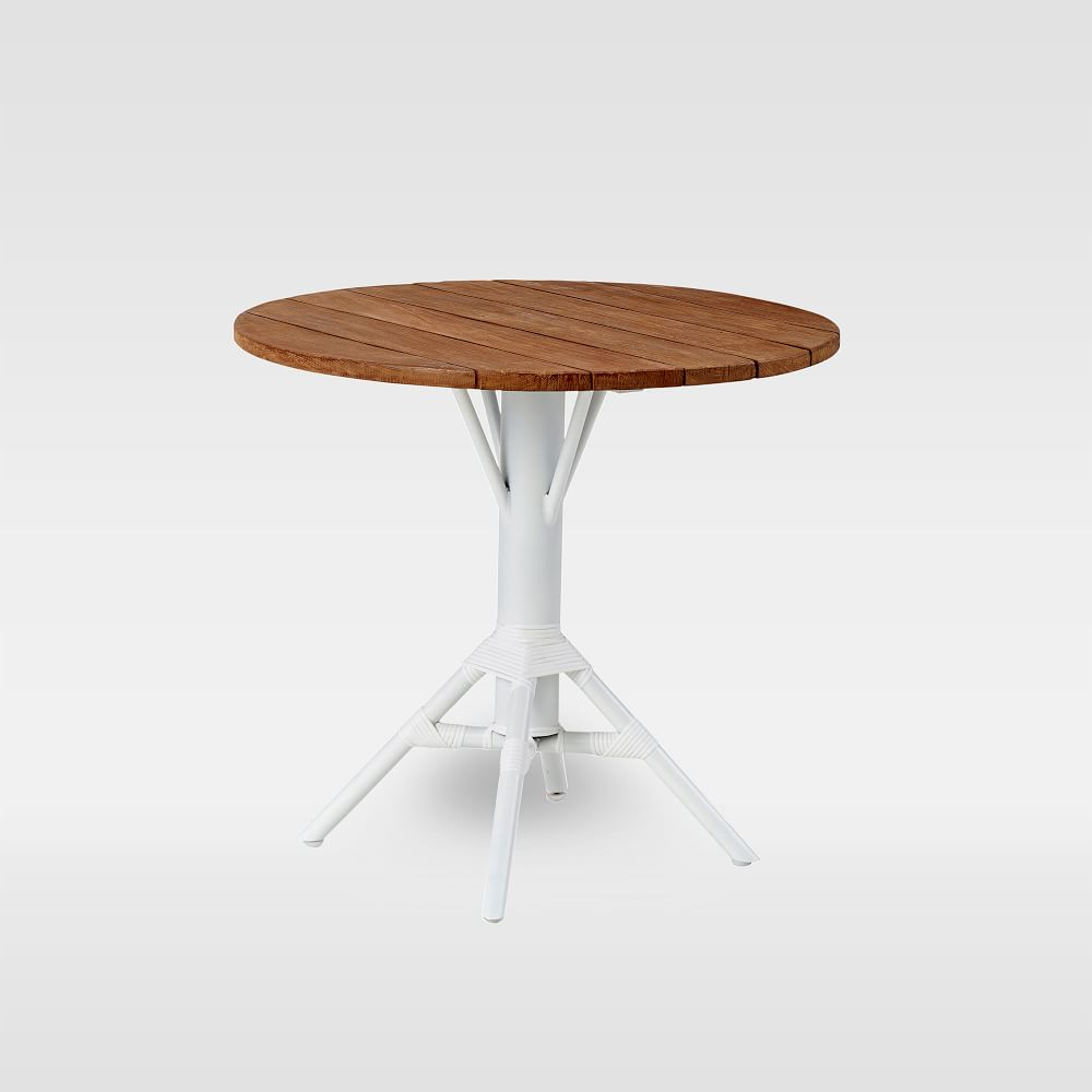 outdoor round dining table white