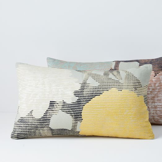 embroidered etched floral pillow covers