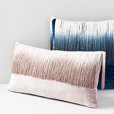 lush velvet tassel fringe pillow cover