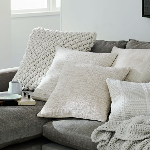 soft corded pillow cover