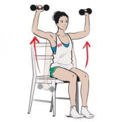 Chair Gym Workout Videos Avenue Six Chairs Joe Wicks The Body Coach: Shoulder Press - Women's Health