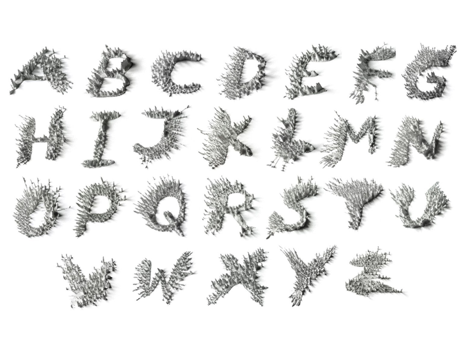 A Polarizing New Font Made With Iron Filings and Magnets