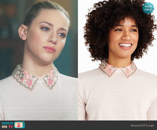 Club Monaco Kalani Sweater worn by Lili Reinhart on Riverdale