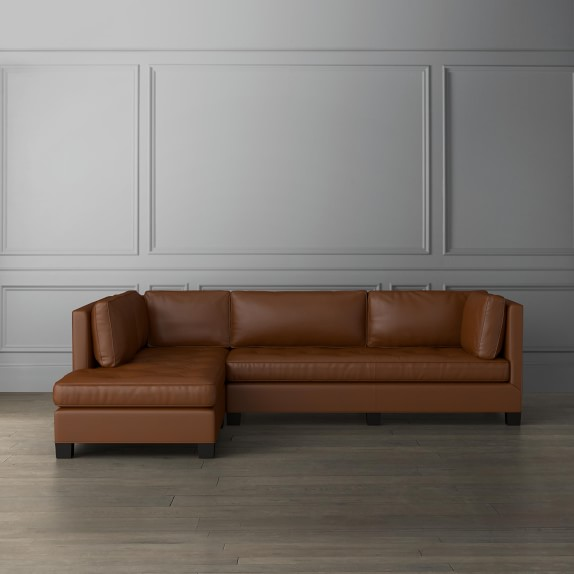 wilshire leather 2 piece l shape sectional with chaise