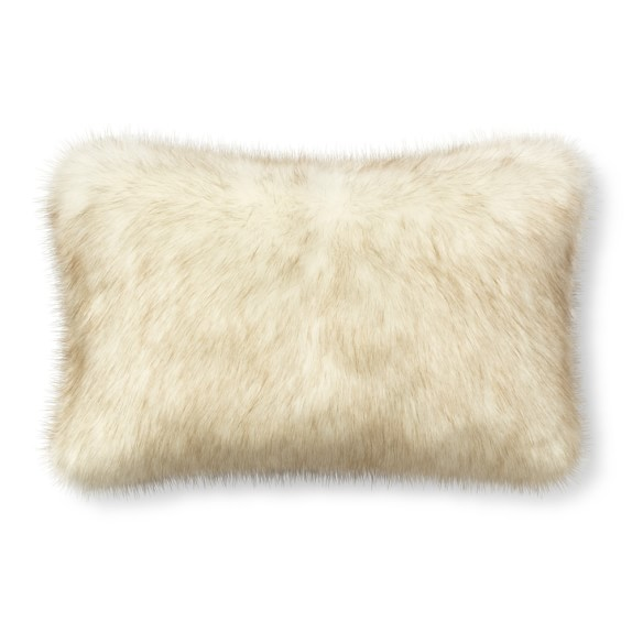 faux fur lumbar pillow online