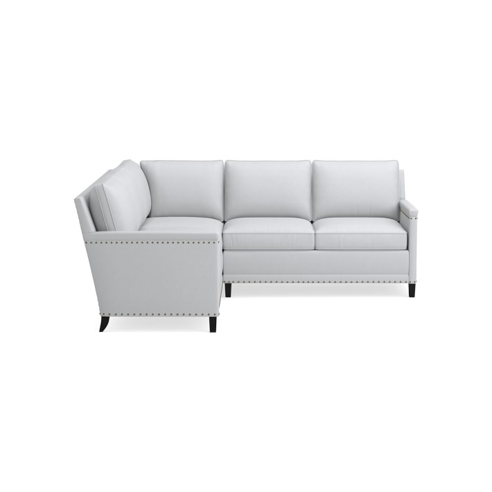 addison 2 piece l shape 3 cushion cornering sofa loveseat sectional with nailheads right