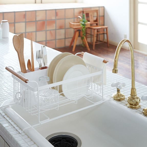 tosca over the sink dish drainer rack white