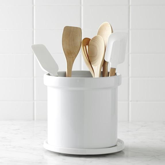 Ceramic Partitioned Utensil Holder Kitchen Counter Organizers Williams Sonoma