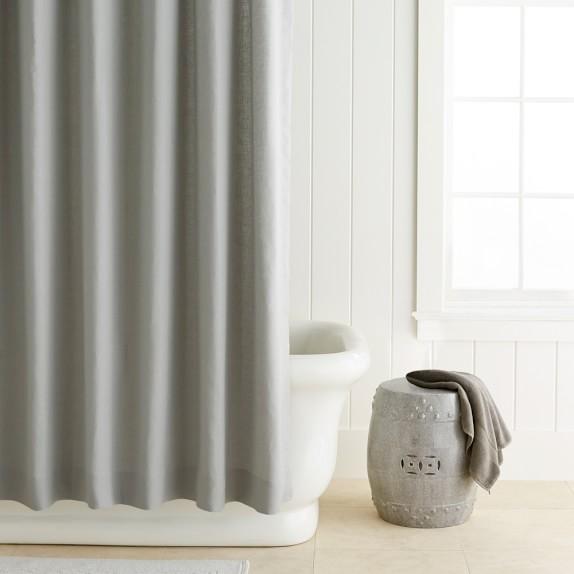 luxury signature linen shower curtain