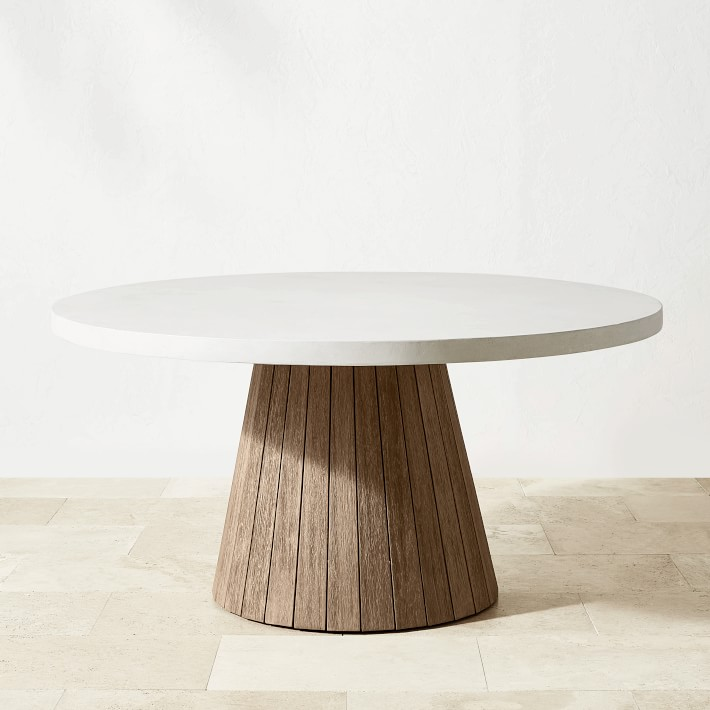 balboa outdoor round dining table