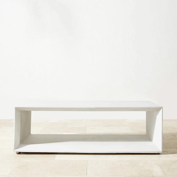 pierre indoor outdoor rectangle concrete coffee table