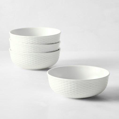 Pillivuyt Basketweave Porcelain Cereal Bowls