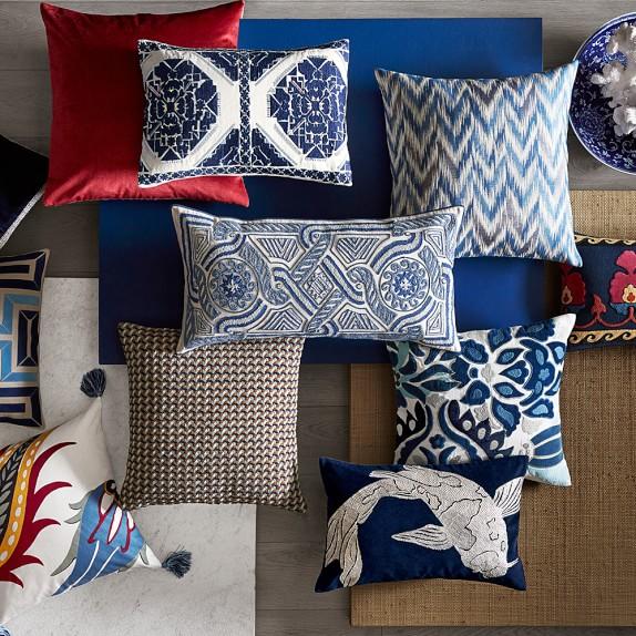 navy lumbar pillow online