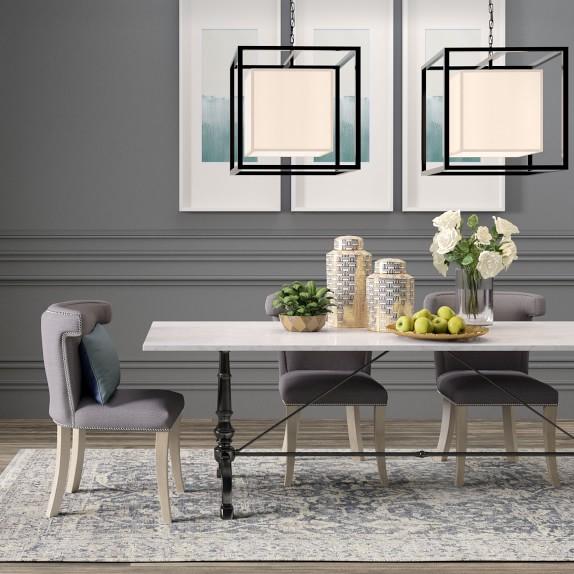 la coupole rectangular iron bistro table