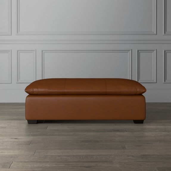 laguna leather coffee table ottoman
