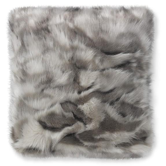 grey fox faux fur pillow williams sonoma