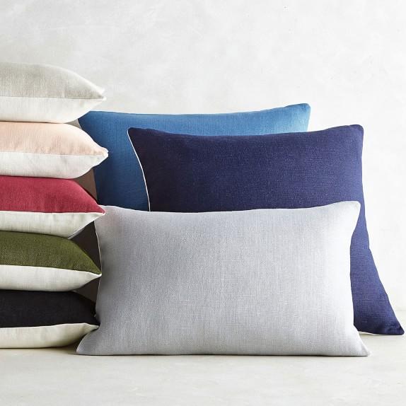 reversible belgian linen pillow cover