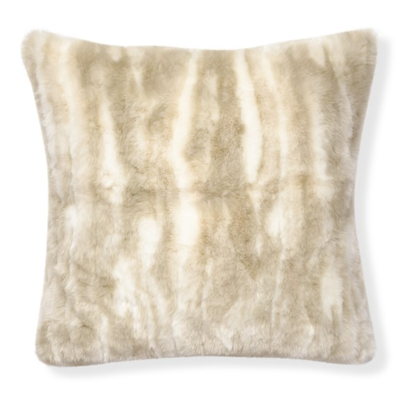 arctic fox faux fur pillow williams