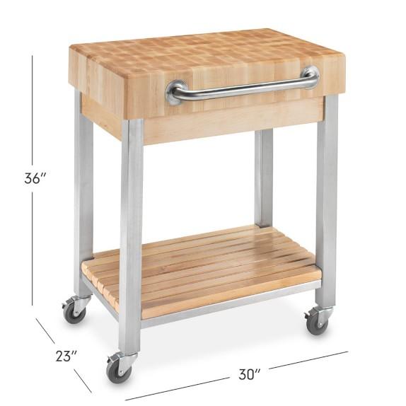 john boos end grain butcher block classic kitchen cart