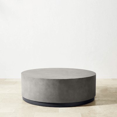 lucca concrete outdoor round coffee table
