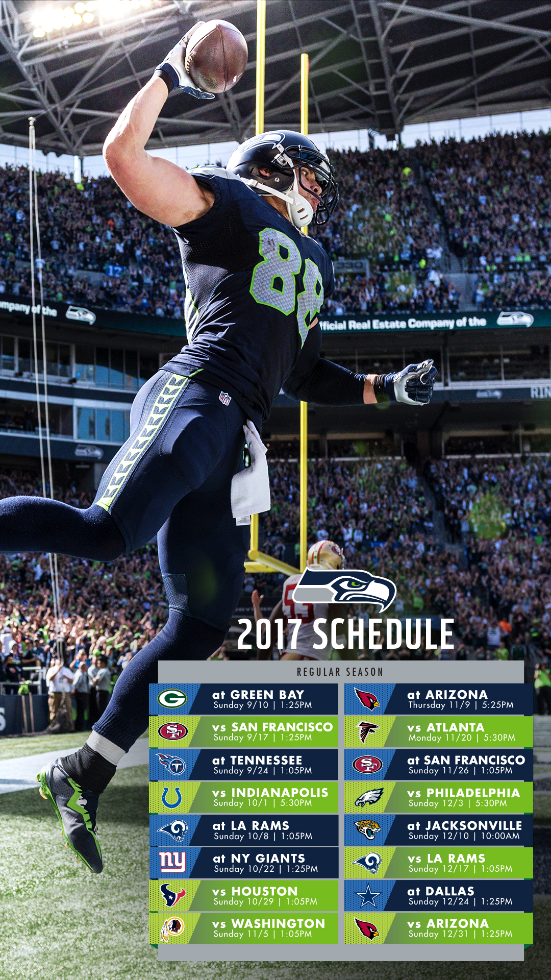photo relating to Printable Seahawks Schedule titled 20+ Seattle Seahawks 2017 Timetable Printable Visuals and