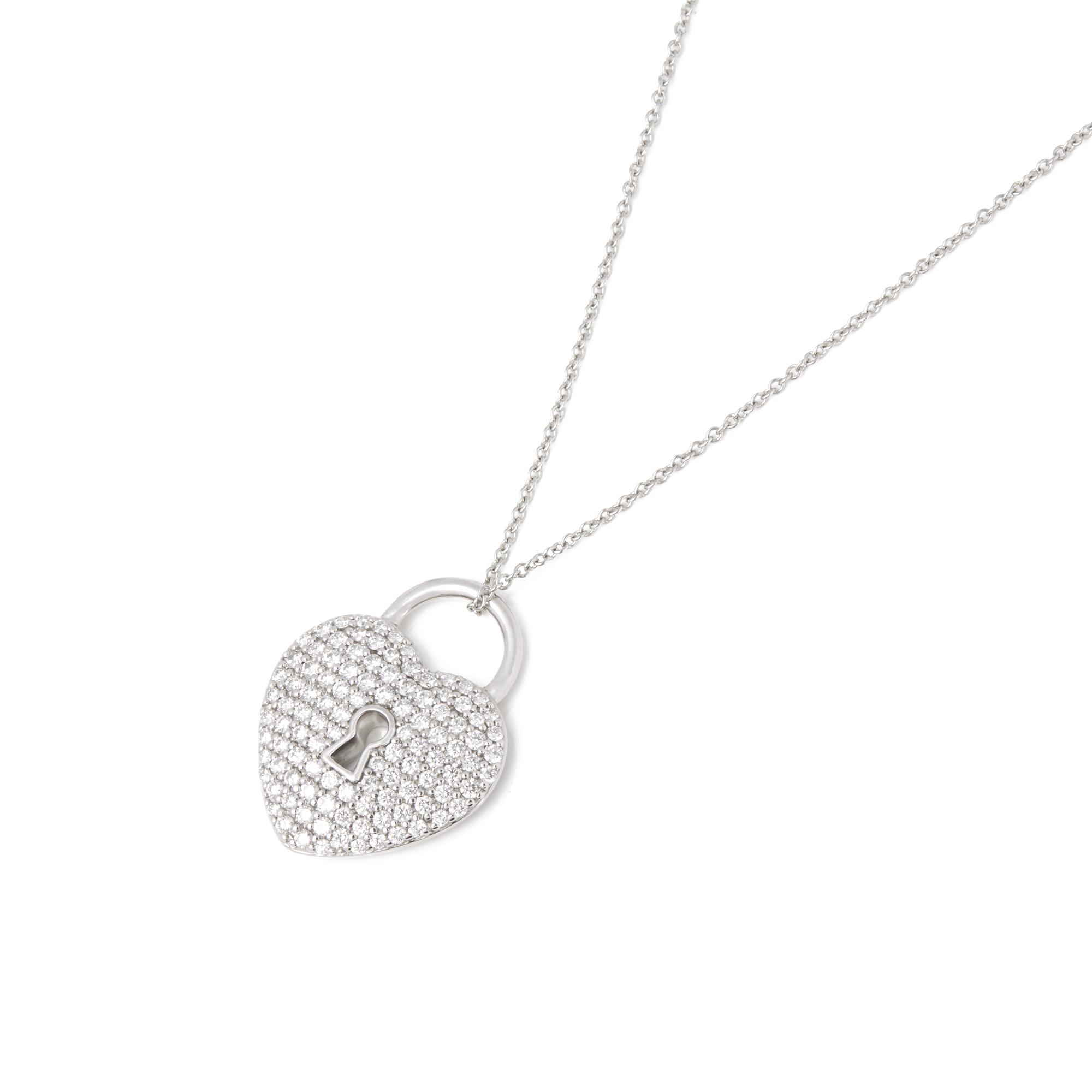 Tiffany Amp Co Platinum Diamond Heart Tiffany Key Pendant