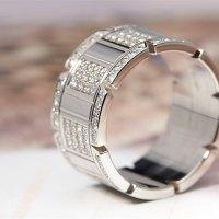 Cartier Mens 18k White Gold Tank Francaise Diamond Ring ...