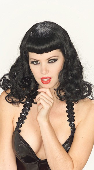 1940s Pin Up Girl Wig Bettie Pin Up Gal Wig Bettie Page Wig