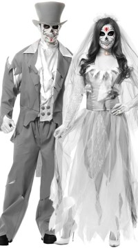 Ghost Bride and Groom Couples Costume, Ghost Groom Costume ...