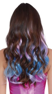 pastel fairy hair extensions blue