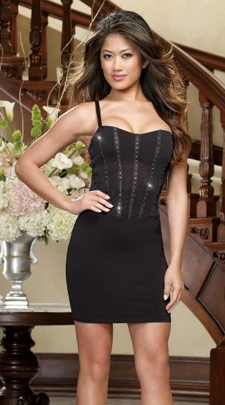 Starry Night Club Dress Sexy Black Club Dress Club Wear Dress