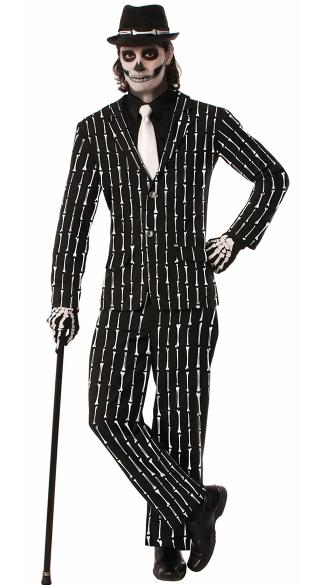 Plus Size Mens Tuxedo Skeleton Costume Plus Size
