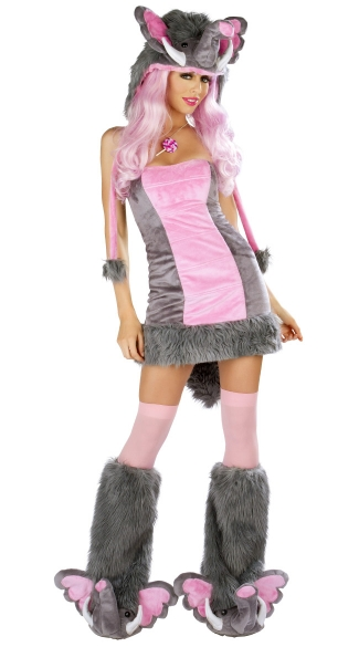 Deluxe Pink Elephant Costume Sexy Pink Elephant Costume