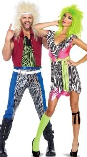 80s rockers couples costume men's