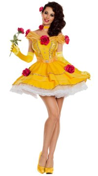 Belle Of The Ball Costume, Yellow Princess Costume - Yandy.com