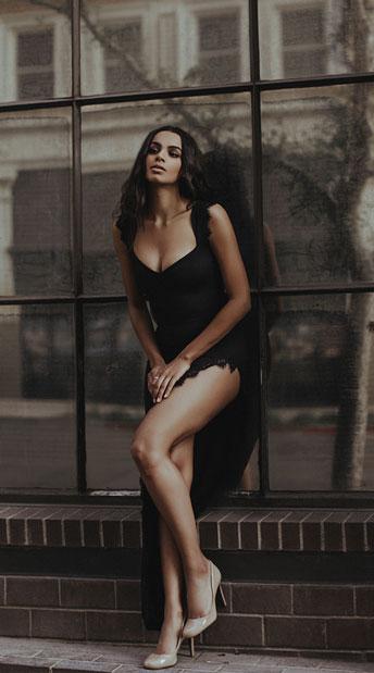 Femme Fatale Black Dress black maxi dress  Yandycom