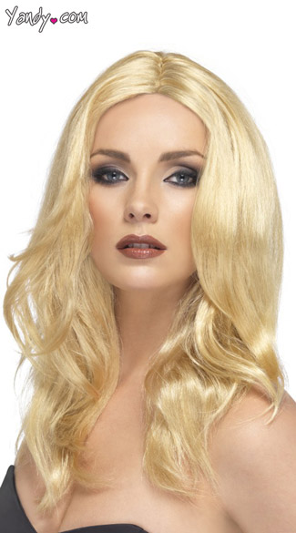 Blonde Superstar Wig Real Looking Blonde Wig Long Blonde Wig