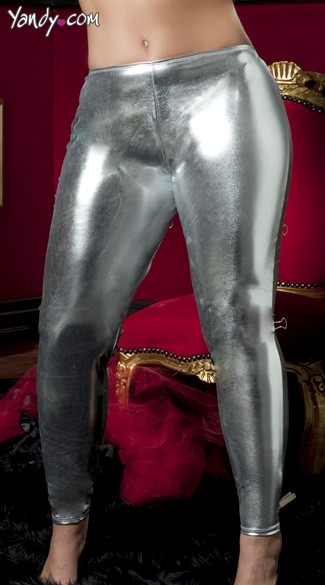 Plus Size Shiny Stretch Lame Tights Plus Size Faux