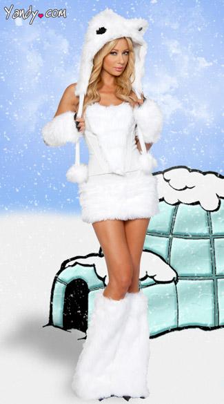 Exclusive Sexy Polar Bear Costume Adult Polar Bear Costume Polar Bear Halloween Costume Polar
